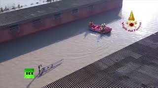 Streets are full of water: Massive flood prompts evacuation in Italy - RUSSIATODAY