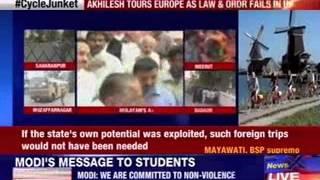 Akhilesh tours Europe as law and order fails in Uttar Pradesh - NEWSXLIVE