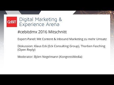 """#cebitdmx: Expert-Panel """"Mit Content & Inbound Marketing zu mehr Umsatz"""""""