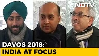 India Takes Centerstand At Davos 2018 - NDTV