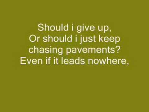 Adele Chasing Pavements LYRICS