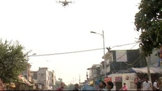 Days after clashes, police use drone cameras to keep an eye on Trilokpuri - NDTVINDIA