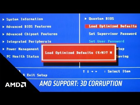 AMD Support: How to Troubleshoot 3D Geometry & Texture Display Corruption