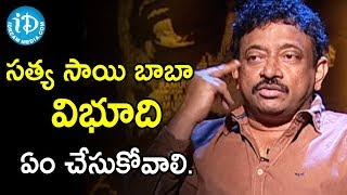 Director Ram Gopal Varma About God Man Claims | Ramuism 2nd Dose - IDREAMMOVIES