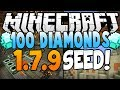 "Minecraft 1.7.10 Seeds: ""100 Diamonds"" - (Village at Spawn, 2 Temples, Mesa Biome, Diamonds) - 1.7.9"