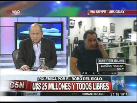 C5N - CHICHE EN VIVO: HABLA VITETTE SELLANES, AUTOR DEL ROBO DEL SIGLO