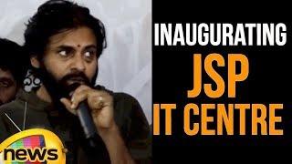 Pawan Kalyan inaugurating JSP IT Centre in Hyderabad | Pawan Kalyan Speech | Mango News - MANGONEWS
