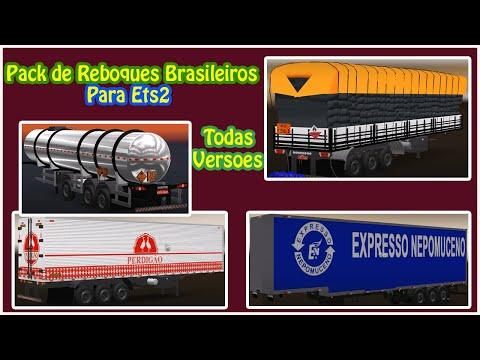 Pack de Reboques Brasileiros para Euro Truck 2 !!