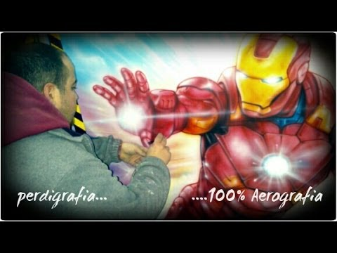 Aerografia paso a paso de IronMan - Airbrush step by step of IronMan.