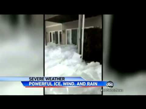 Extreme Weather : A Giant Wall of Ice destroys homes in Minnesota and Canada (May 12, 2013)