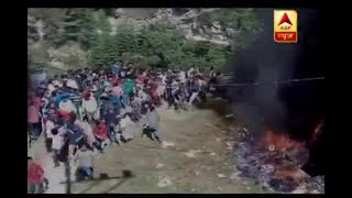 Shimla: People protest, pelt stones after one of accused in Gudia gangrape case died in lo - ABPNEWSTV