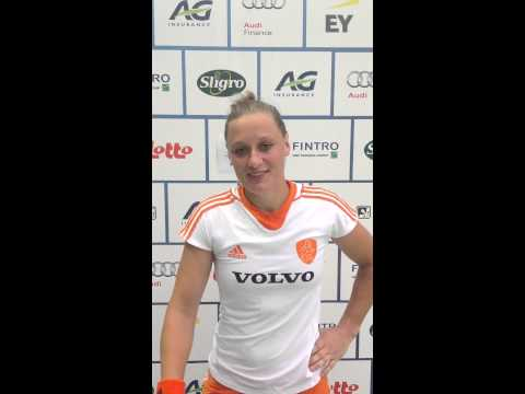 Fintro EuroHockey Junior Championships 2014 Day 2 - Post match interview GER-NED 1-4 Lieke Van Wijk