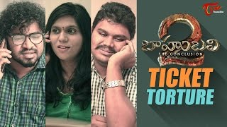 Baahubali Ticket Torture || By Fun Bucket Team || Comedy Skit - TELUGUONE