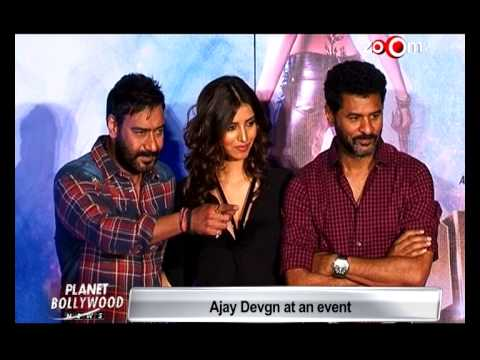 "Ajay Devgan & Prabhudeva At Song Launch Of ""Action Jackson"" 