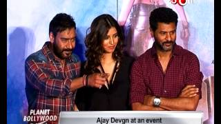 Ajay Devgan and Prabhudeva at song launch of 'Action Jackson' | Bollywood News
