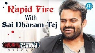Rapid Fire With Sai Dharam Tej | #Jawaan || Talking Movies With iDream - IDREAMMOVIES