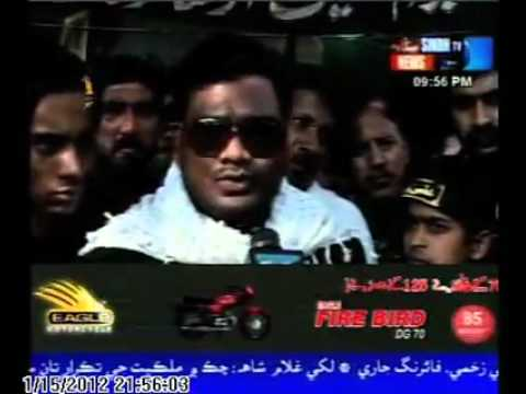 ASGHAR MEHDI LIVE COMMENT ON SINDH TV CHEHLUM IMAMA E HUSSAIN AS 2012