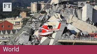 Motorway bridge collapses in Italy - FINANCIALTIMESVIDEOS