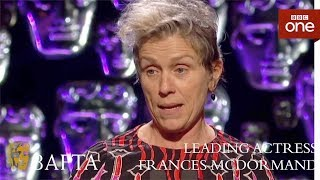 Frances McDormand wins Leading Actress BAFTA - The British Academy Film Awards: 2018 - BBC One - BBC