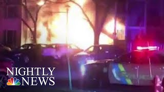 Officers Rescues Family Of 4 From Burning New Jersey Home | NBC Nightly News - NBCNEWS