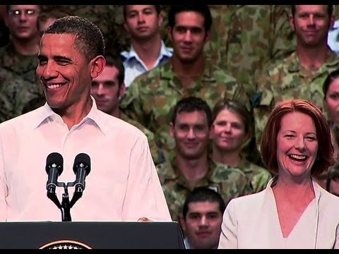 President Obama Speaks to U.S. and Australian Service Members