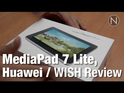 Tablet para comenzar, MediaPad 7 Lite de Huawei / WISH Review