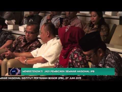 Menristekdikti  Jadi Pembicara Seminar Nasional IPB
