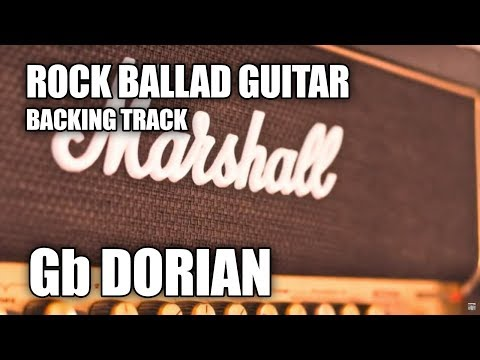 Rock Ballad Guitar Backing Track In F# Minor