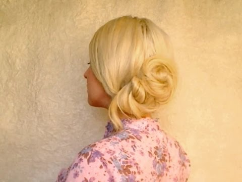 Easy back to school hairstyles for long hair tutorial Soft bun everyday updo for bad hair days