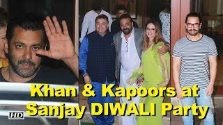 Khan and Kapoor's Grace at Sanjay Dutt's DIWALI Party - IANSLIVE