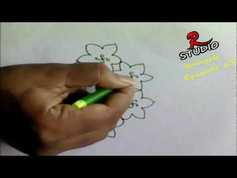 Learn 9x5 Rangoli design(Kolam) Episode 63
