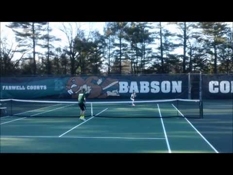 Babson Men's Tennis vs. Coast Guard (4/9/14)