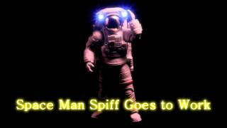 Royalty Free Space Man Spiff Goes to Work:Space Man Spiff Goes to Work