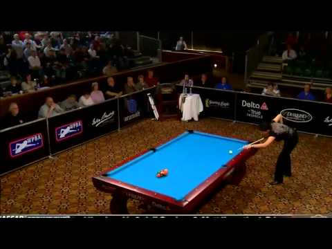 03/18/12 WPBA Masters Semi Final rack 4 7 Kelly Fisher vs Allison Fisher Billard HD