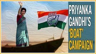 Priyanka Gandhi Ganga Yatra; Priyanka Gandhi  in Varanasi on 3rd day reaches Assi Ghat - ITVNEWSINDIA