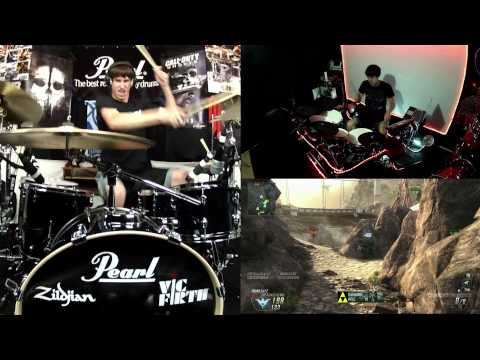 Drum Battle 2 - Drums vs. Black Ops 2 Guns - Song Composed Of BO2 Gun Sounds - 150,000 Sub Video!