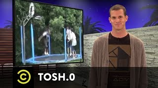Tosh.0 - Video Breakdown - Trampoline Dunk - COMEDYCENTRAL