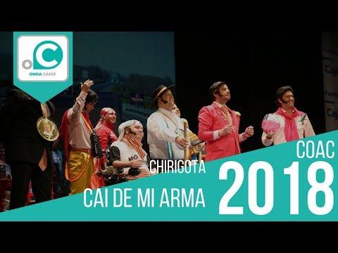Sesión de Preliminares, la agrupación Cai de miarma (7,20) actúa hoy en la modalidad de Chirigotas.