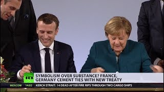 France and Germany pledge to defend each other in new treaty - RUSSIATODAY