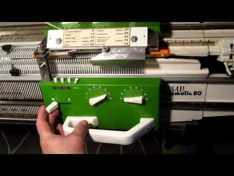 PASSAP Duomatic 80 Knitting Machine: Tuck Rib While Using The Motor Drive Accessory