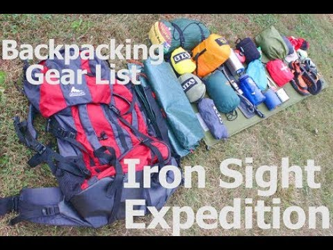 My Backpacking Gear List