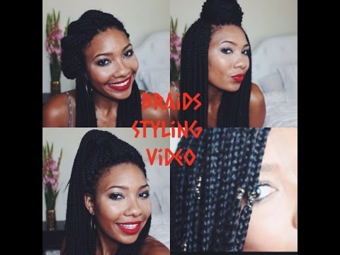 NATURAL HAIR   Quick Styles for Box Braid and Braid/Loc Jewels How-To