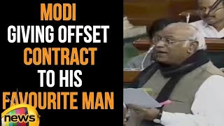 Mallikarjun Kharge Accused PM Modi of Giving Offset Contract To His Favourite Man | Mango News - MANGONEWS