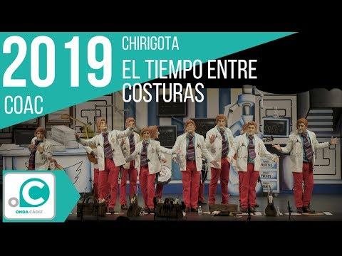 La agrupación El tiempo entre costuras llega al COAC 2019 en la modalidad de Chirigotas. En años anteriores (2018) concursaron en el Teatro Falla como Los maniáticos, consiguiendo una clasificación en el concurso de Preliminares.