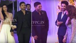 Stylish Star Allu Arjun @ ChaySam Wedding Reception | TFPC - TFPC