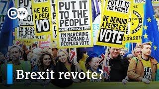 Brexit: Thousands demonstrate in London for second referendum | DW News - DEUTSCHEWELLEENGLISH
