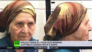 Brutal gardening: 87yo woman tasered by US cops while cutting flowers - RUSSIATODAY