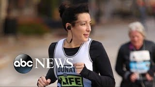 Woman who received a heart transplant honors donor by running half-marathon - ABCNEWS