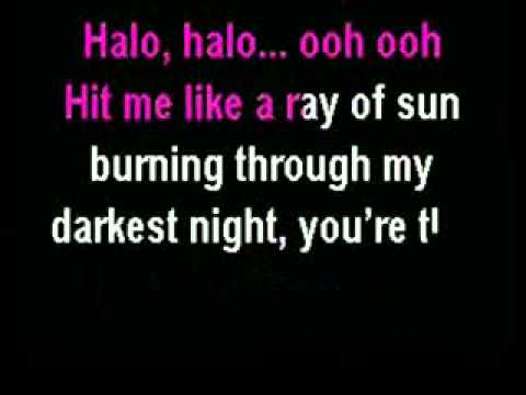 Beyonce - Halo (Karaoke Instrumental) with Lyrics