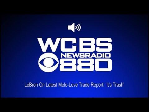 LeBron On Latest Melo-Love Trade Report: 'It's Trash' (Audio)